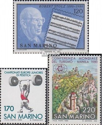 San Marino 1219,1220,1221 (complete.issue.) unmounted mint / never hinged 1980 R