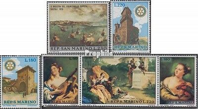 San Marino 954,957-958,959-961 triple strip (complete.issue.) unmounted mint / n