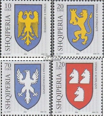 Albania 2933-2936 (complete.issue.) unmounted mint / never hinged 2003 Crest