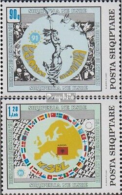 Albania 2493-2494 (complete.issue.) unmounted mint / never hinged 1992 CSCE Admi