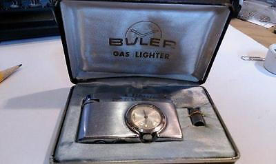 Old Vtg  BULER GAS LIGHTER WATCH in working order with box