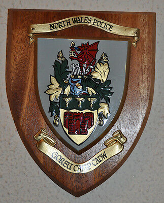 North Wales Police mess wall plaque shield crest Constabulary
