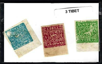Tibet 3 timbres différents