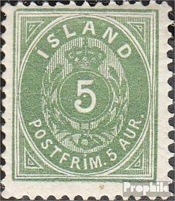 Iceland 13B fine used / cancelled 1882 Paragraph with Crown