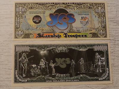 Rock Band YES: Jon Anderson, Chris Squire  *  $1,000,000 One Million Dollar Bill
