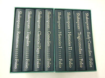 Folio Society William Shakespeare The Complete Plays in 8 volumes