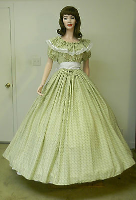 Civil War Southern Belle Pioneer Sass  Dress Costume