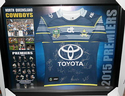 North Queensland Cowboys 2015 Premiers Team Signed Jersey - 2016 Version