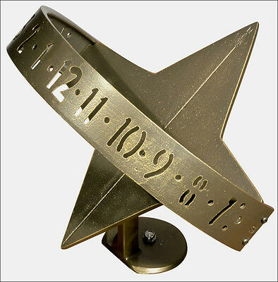 Whitehall Sun Clock Digital Sundial QUICK & FREE Ship in French Bronze NO Rust!