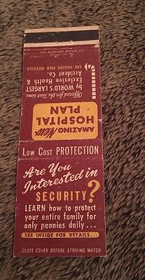 Vintage Matchbook Cover Matchcover Mutual Benefit Health & Accident Assoc NE