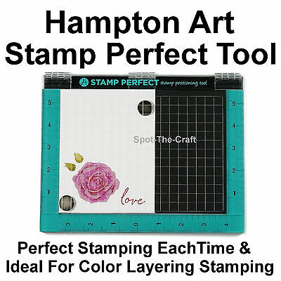 Hampton Art ~ Stamp Perfect ~ Positioning Tool For Perfect Stamping Each Time