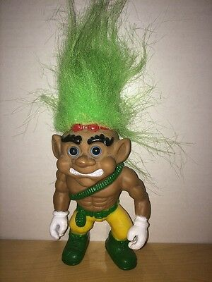 Rambo Style Troll Doll 6 Inches Tall Vintage