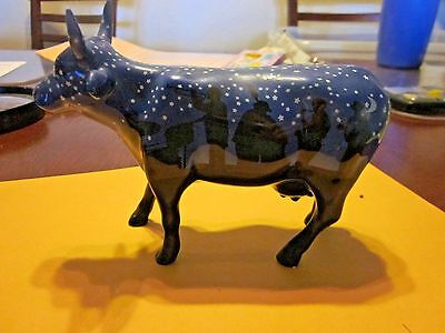 (29) Cow Parade Item#9185 Jazzy Cow 2001 Retired