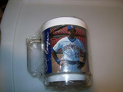 Cecil Cooper  n15 Milwaukee Brewers Maxwell House Thermal Coffee Cup