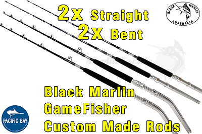 4x BMA 24kg Stand-up Game Fishing Rods 2x Bent 2x Str Butts Trolling Lures etc..