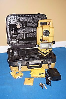 Topcon GPT-3002 Total Station Battery Charger Case GOOD CONDITION