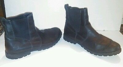 Mens Timberland Earthkeepers Black Leather Boots US Size 13 ( Blundstone Style )