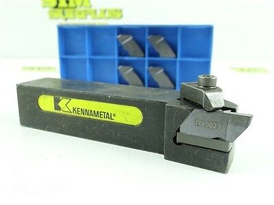 "Kennametal Indexable Top Notch Tool Holder 1"" Shank Nsl164C + 5 New Inserts"