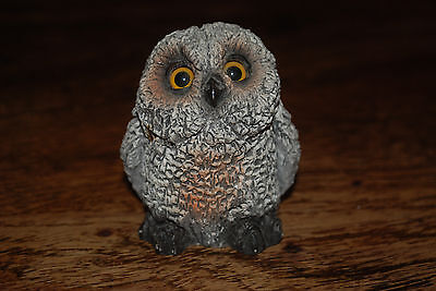 Stone Critters Baby Horned Owl Figurine Home Decor