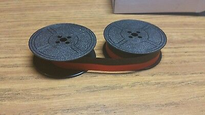New universal typewriter black and red ribbon twin spool 1/2 inch FREE SHIPPING!