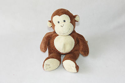 Ty Pluffies Dangles Plush Monkey Embroidered Sewn Stitched Eyes Plush 2002 Toy