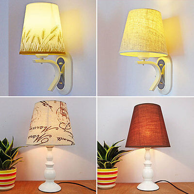 Textured Fabric Drum Shade Table Wall Hanging Lampshades Lamp Cover Lightshades