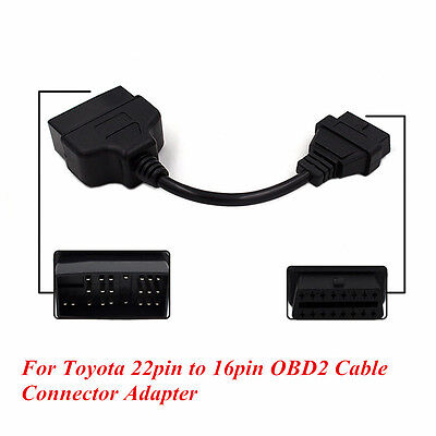 22Pin To 16Pin OBD1 to OBD2 Connector Cable Diagnostic Adapter For Toyota Lexus
