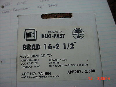 16 Gauge 2 1/2 Inch Galvanized Chisel Point Straight Finish Brad Nails 5,000