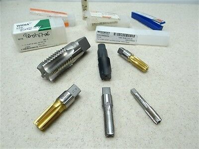 "Lot Of New!! 6 Hss Pipe Taps 1/8"" To 1""-11-1/2""npt Emuge Gtd"