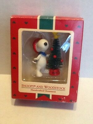 Vtg Hallmark Ornament Snoopy & Woodstock Peanuts 1972 New Hard To Find
