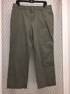 Eddie Bauer Olive Green Khaki Pants Size 14 Excellent! Quick Shipping!!