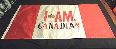 Flag I AM CANADIAN Canada Molson Beer Large Man Cave