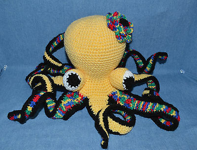 Fantastic Handmade Crocheted Colorful Octopus, Wool & Filler Are Washable
