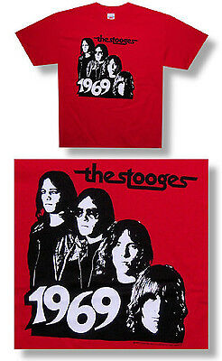 Iggy Pop & Stooges 1969/band Red Kids T-Shirt Youth Large New