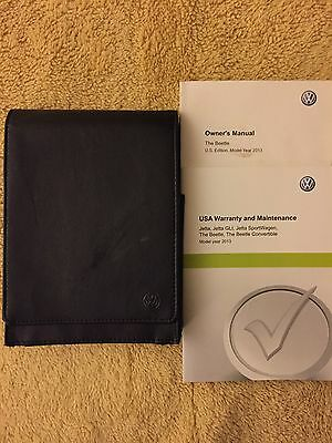 2013 VW Beetle Owners Manual w/misc booklets (OEM)