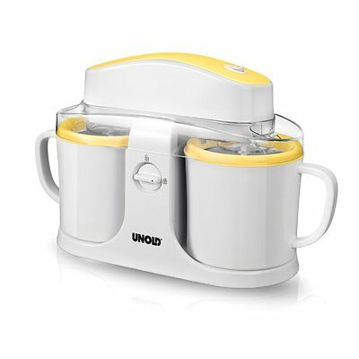 Unold Duo Gel canister ice cream maker 12W 0.5L White,Yellow - ice cream (C6W)