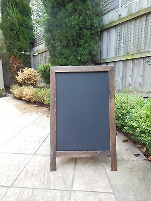 Large A-Frame Chalkboard, Recycled Timber, Rustic Blackboard,