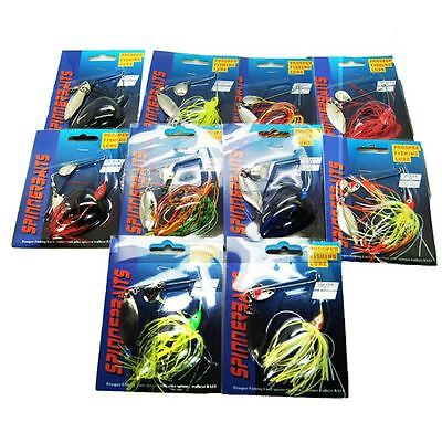 3x 13.5g Spinnerbaits Spinner Baits Lures Lure Double Blade Tackle Cod Bass