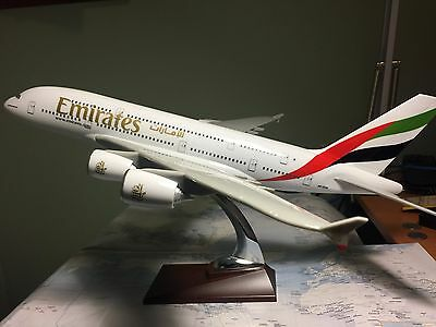 Emirates 380 A380 model airplane solid resin HUGE 1/144 19 inches 1/100 A6-EDB