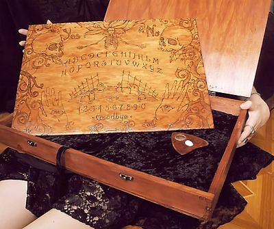 Wooden Ouija Board with gift box spiritual talking board wood hand-sculpted