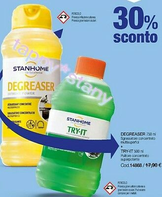 Stanhome: SET SGRASSATORE 750ML+TRY-IT 500ML OFFERTA ENTRA TANTE OCCASIONI!