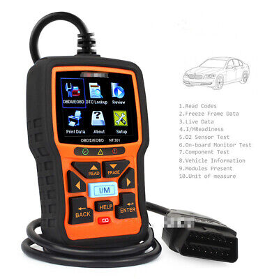 OBDII NT301 CAN EOBD Automotive Engine Diagnostic Scan Tool OBD2 Readout
