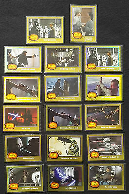 Topps Star Wars Journey Force Awakens Lot Of 17 Gold Starfield Foil Cards