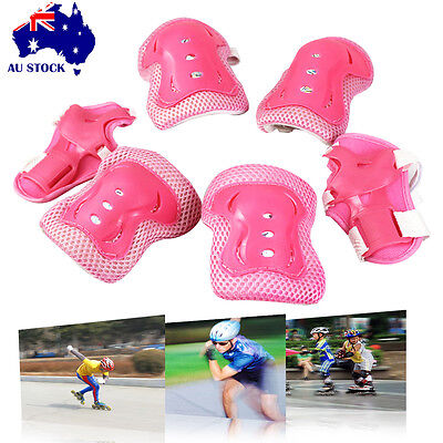 6PC Children Wrist Elbow Knee Safety Gear Pads Kids Sport Protective Guard skate