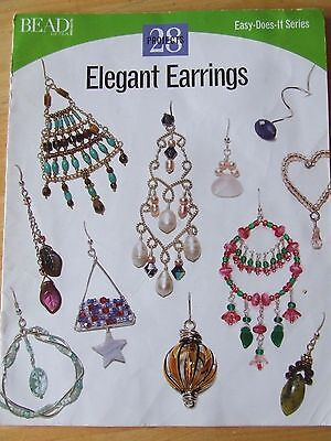 Bead And Button Easy-Does-It Series 28 Projects Elegant Earrings 2004 Magazine