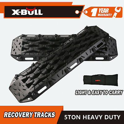 X-BULL New Sand/Mud/Snow Recovery Tracks BLACK  Pair 4WD Offroad and Carry Bag