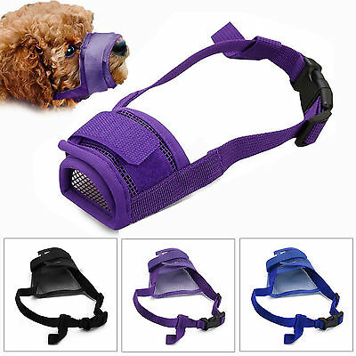 UK Adjustable Dog Safety Muzzle Muzzel Biting Barking Chewing Small Medium Large