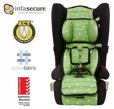 Infasecure Comfi Treo Covertible Booster Baby Car Seat 6 months - 4 years Green