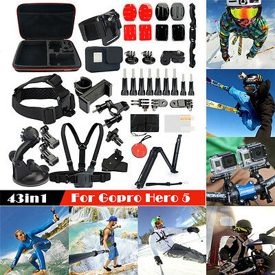 43in1 Spart Kit Monopod Strap For  GoPro HERO5 Waterproof 4K Video Action Camera