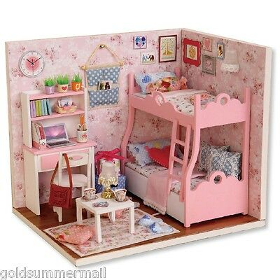 CUTEROOM H-012-A DIY Wooden House Furniture Handcraft Miniature Kit with Cover